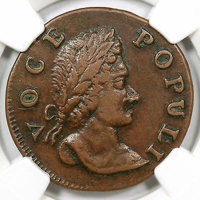 Click now to see the BUY IT NOW Price! 1760 N 10 NGX XF 45 NO P TALL HEAD VOCE POPULI COLONIAL COIN EX; PICKER