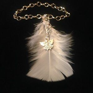 Beautiful Unique Feather Guardian Angel Car Mirror Charm