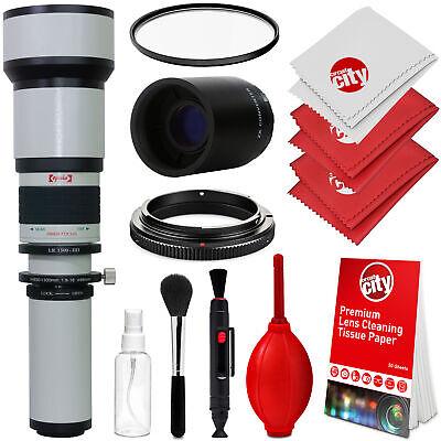 Opteka 650-2600mm Telephoto Lens Kit for Canon EOS 80D 77D 70D 60D 50D 40D 30D ()