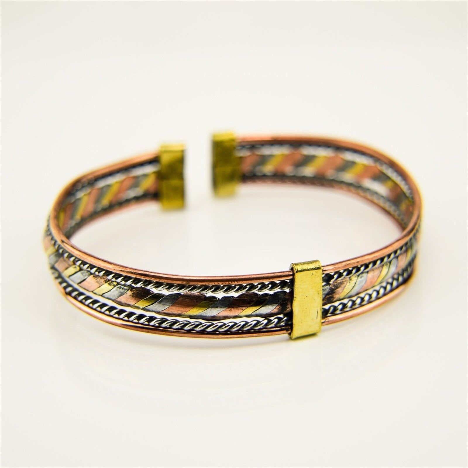 WEST AFRICA MALI African Ethnic Jewelry BRASS AND COPPER TWISTED BRACELET BB