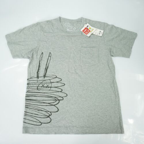 *NWT* KAWS X Peanuts Uniqlo Sideway Snoopy Graphic Shirt SS W/ Pocket Men's S