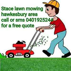 Stace lawn mowing services hawkesbury area South Windsor Hawkesbury Area Preview