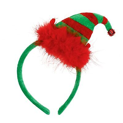 Plüsch Elfen Hut Weihnachtsmann-Helfer Weihnachten Top Stirnband Festlich Arbeit (Weihnachts Top Hut)