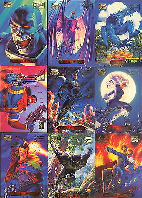 MARVEL MASTERPIECES 1994 U PICK PARALLEL SIGNATURE INSERT CARDS 5 FOR $4.99 MA