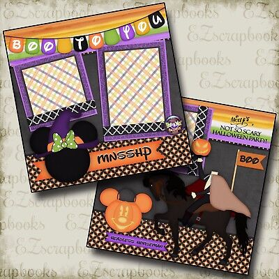 DISNEY Boo To You - 2 Premade Scrapbook Halloween Pages - EZ Layout 2367