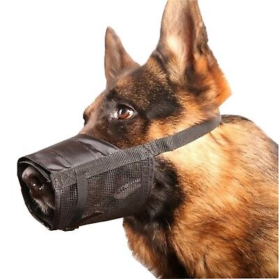 Adjustable Dog Grooming Muzzle No Bark Bite - Any Size XS Small Medium Large XL Adjustable Dog Grooming Muzzle