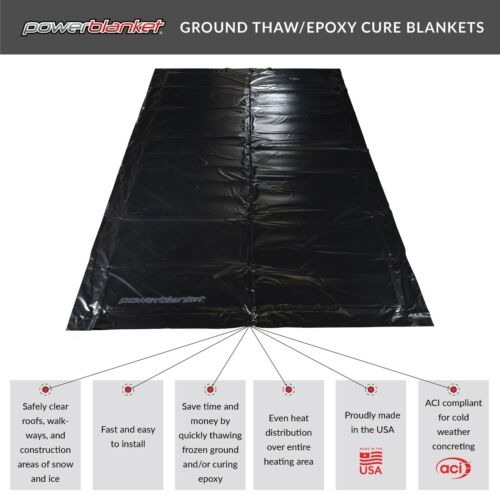 Ground Thawing - Powerblanket EH0304 Ground Thawing Electric Blanket, 3