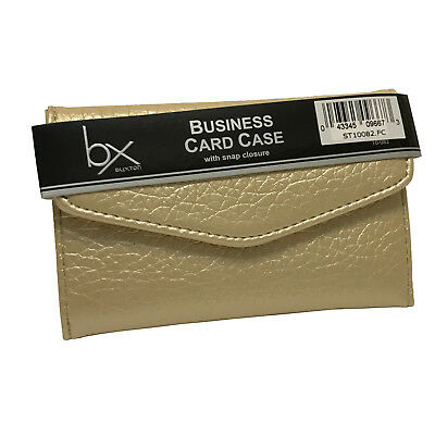 Buxton Business Card Credit Card Case Wallet - Gold