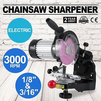 "Electric Chainsaw Bench Grinder Sharpener Comes with 1/8"" 3/"