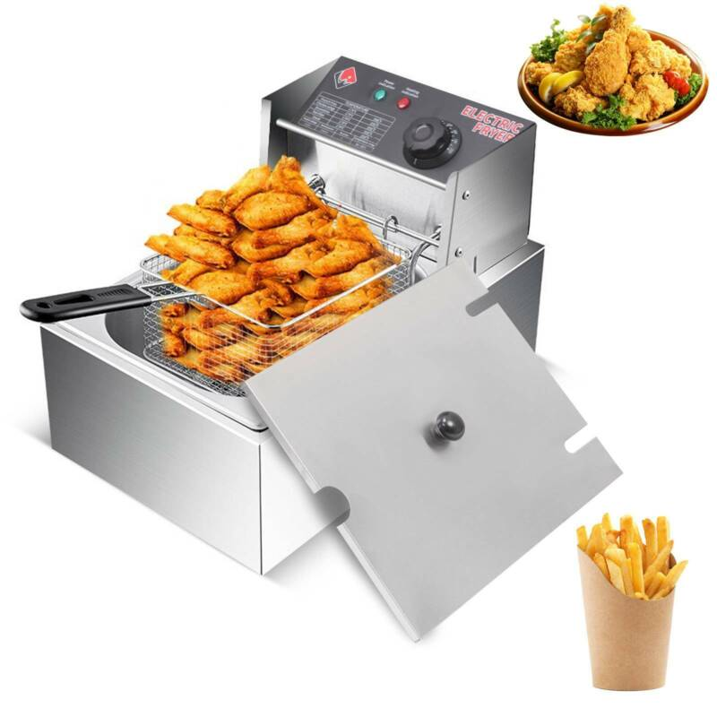 20L Commercial Electric Deep Fat Fryer Double Tank Twin Fry Basket Chicken Chips