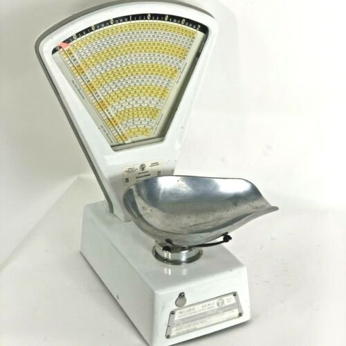 Vintage White Toledo Model 3111 Scale in Very food condition