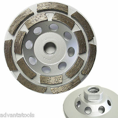4 Double Row Diamond Cup Wheel For Concrete Stone Masonry Grinding 58-11