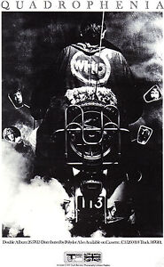 QUADROPHENIA  POSTER. THE WHO, Mod, Scooter, 60's.