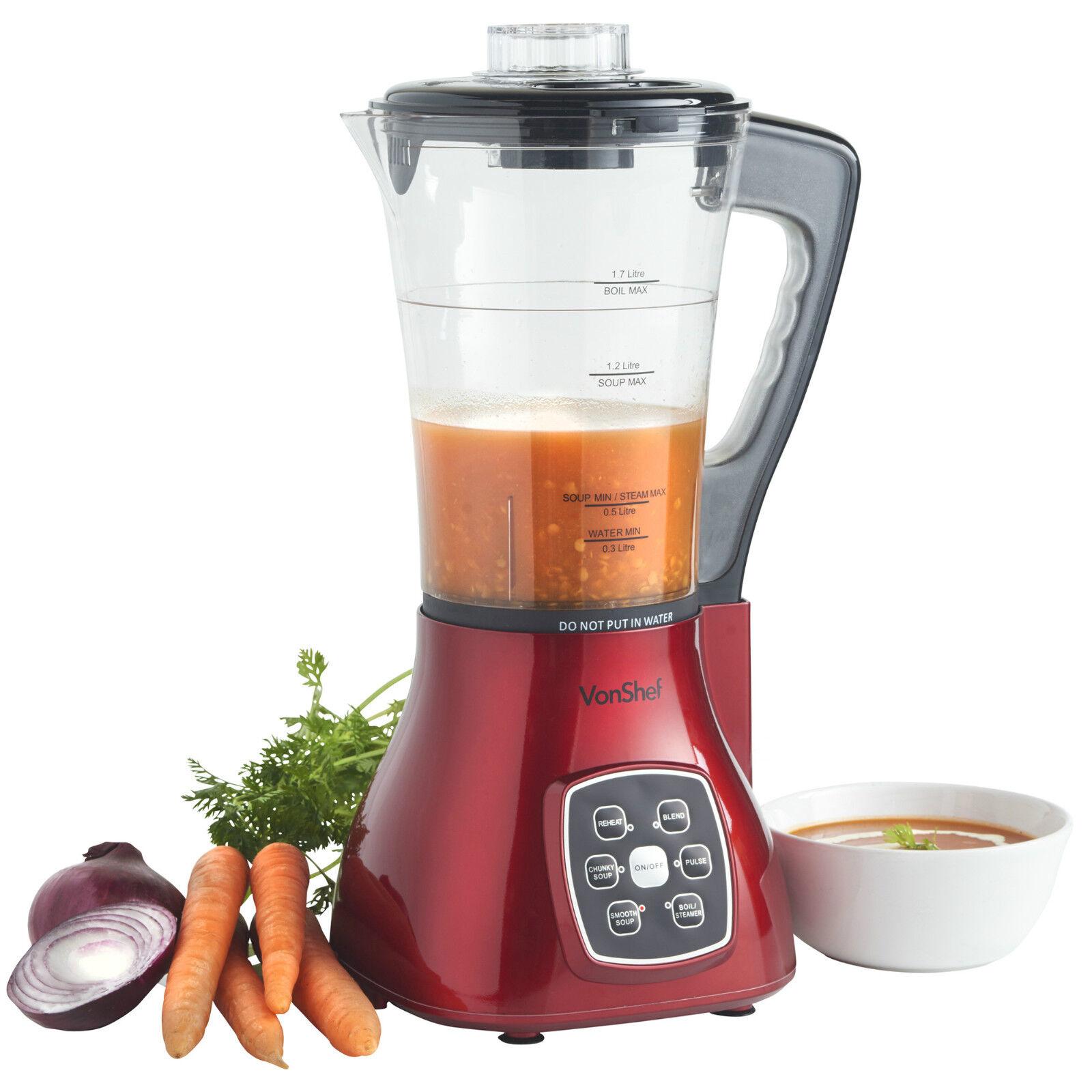 vonshef soup maker red juicer smoothie machine electric. Black Bedroom Furniture Sets. Home Design Ideas