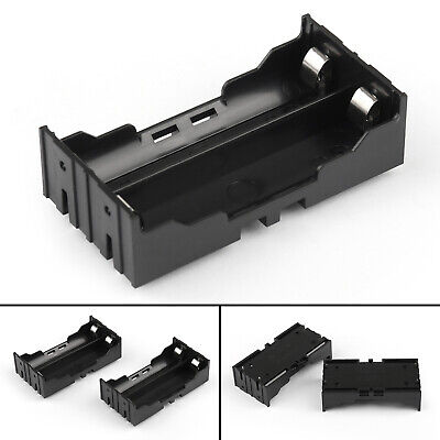 5pcs 2 Cell 18650 Battery Holder Case Box Leads Pins Pcb Board Mount Plastic Ua