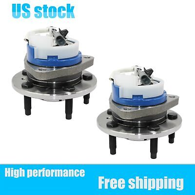 Pair(2) Front Wheel Hub Bearing w/ABS For Buick Lucerne Allure Cadillac DTS New