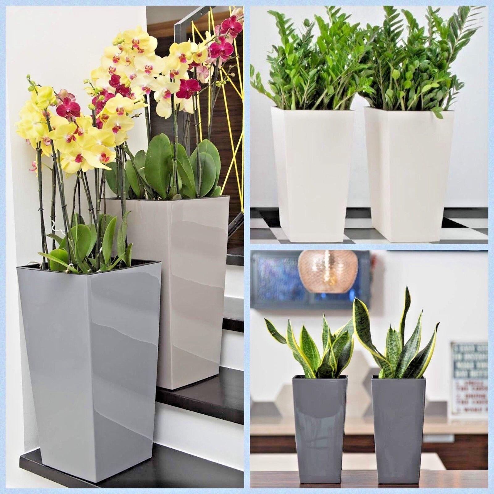 Blumenkübel Hochglanz Pflanzgefäß Einsatz Übertopf 7 FARBEN 6 Größen