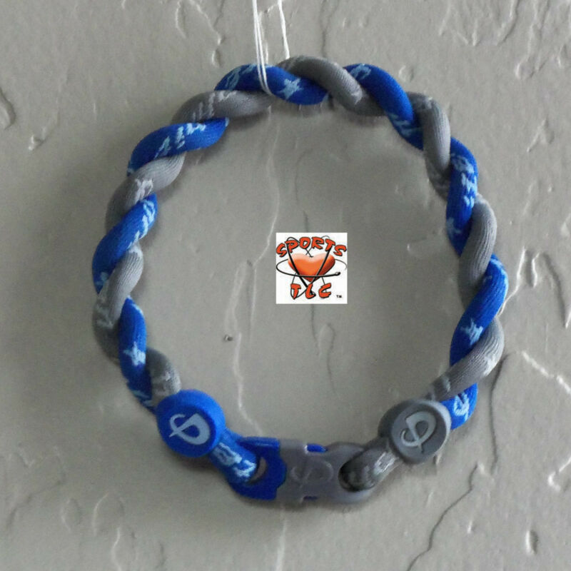 Phiten Tornado Bracelet Custom - Gray with Royal Blue