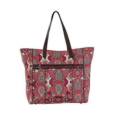 NWT Sakroots Artist Circle Travel Tote Bag in Ruby Wanderlust Water Resistance  ()