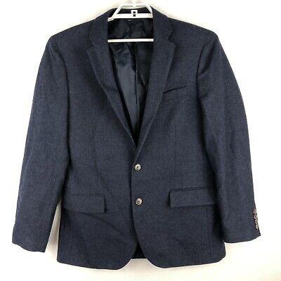 J Crew Mens THOMPSON Blue Wool Blend Blazer Sport Coat Suit Jacket Size 40R