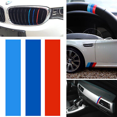 "10"" ///M M-Colored Stripe Sticker Decal for BMW Exterior or Interior Decoration"