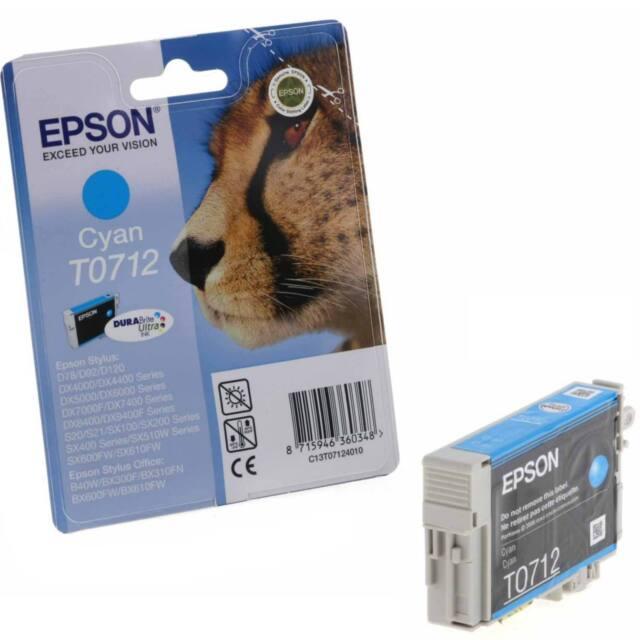 EPSON STILUS CYAN (BLAU) EINZELN DRUCKER TINTENPATRONE - T0712 (C13T07124011)