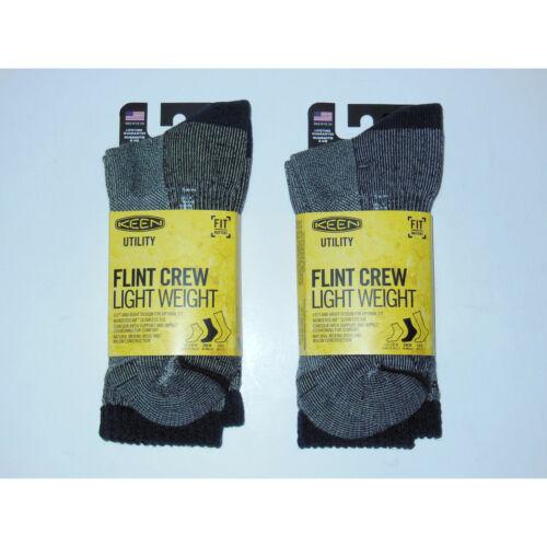 Keen Flint Crew Light Weight Merino Wool Seamless Sock 2-Pack Large Navy Hiking