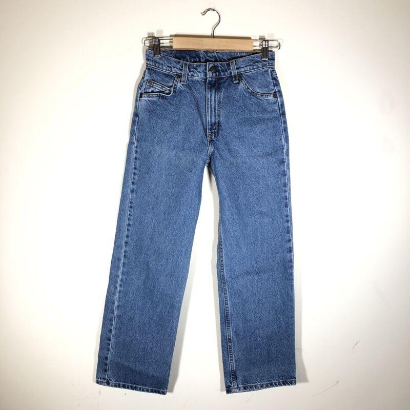 """Vintage 90s Levis 562 Orange Tab Jeans Loose Fit Sz 14 Boys/ 25"""" Waist High Rise"""
