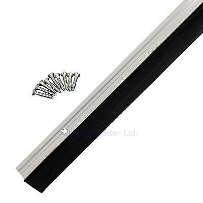 Garage Door Draught Excluder Rubber Strip Seal Aluminium 3 Piece fit 2.4m