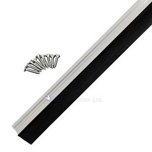 Garage Door Draught Excluder Rubber Strip Seal Aluminium 3 Piece fit 2.4m