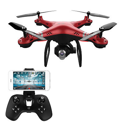 X8 2,4 GHz 4CH 6-Achsen-Weitwinkel-FPV Drohne APP RC HD Kamera Quadrocopter