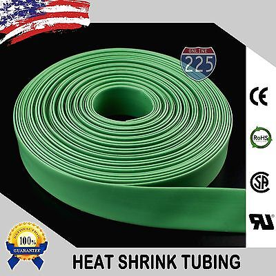 20 Ft. 20 Feet Green 34 19mm Polyolefin 21 Heat Shrink Tubing Tube Cable Us