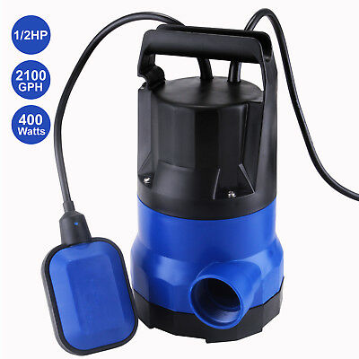 Mecor 2100gph Submersible Water Pump 12hp Clean Dirty Flood Pond Pool Drain