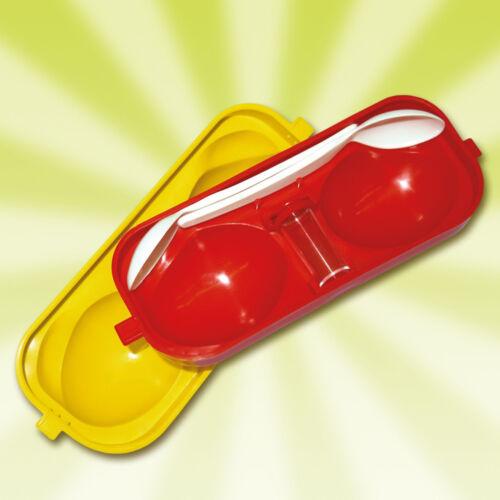 2fach Eierträger Eierbox Eierbehälter inkl. 2 Löffel+Salzstreuer DDR Ostalgie