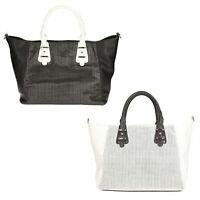 Donna Clarks Mahoe Baia Sintetico Nero O Bianco Borsa Shopping, - clarks - ebay.it
