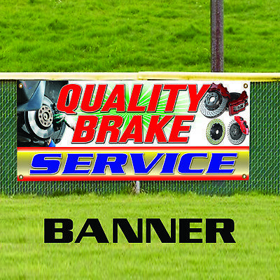 Quality Brake Service Advertising Vinyl Banner Sign Auto Repair Mechanic Shop