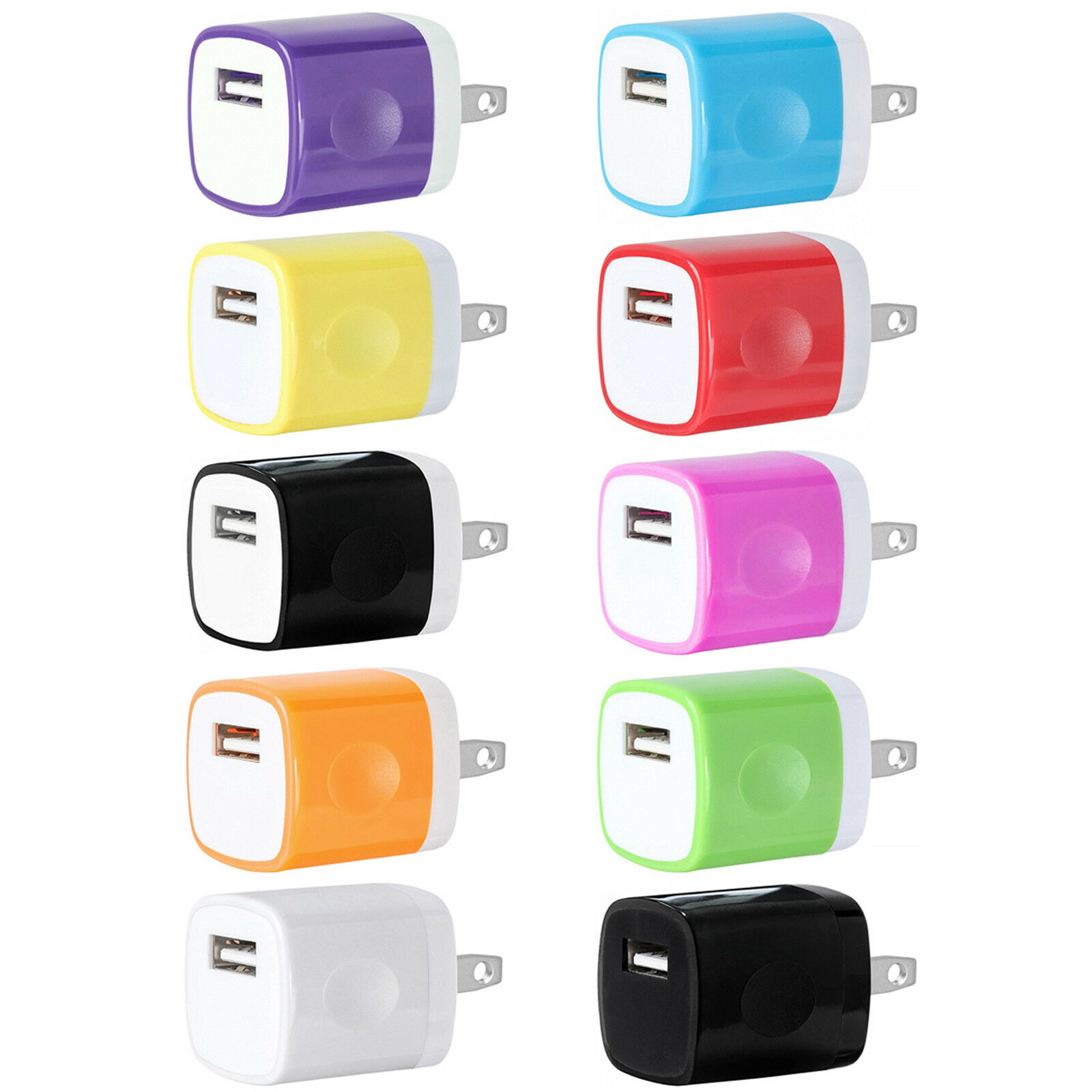 10x PACK USB Wall Charger AC Power Travel Adapter For iPhone