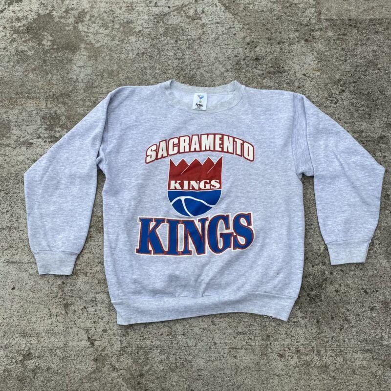 VTG 80's 90's Sacramento Kings Crewneck Sweatshirt Pullover NBA Basketball XL