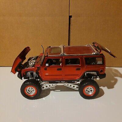 2003 Jada 1:24 High Profile Red Hummer BCKNBLK model