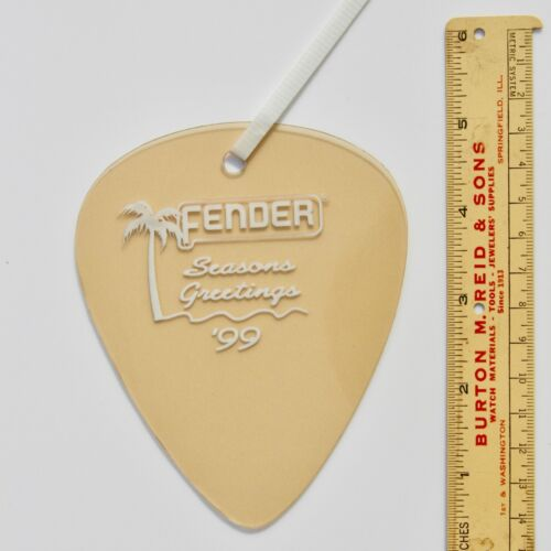 Fender Giant Guitar Pick DEALER Ornament 1999 California Clear - Shore Gold