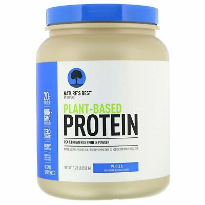 Isopure  Nature s Best   Plant-Based Protein  Vanilla  1 23 lb  558