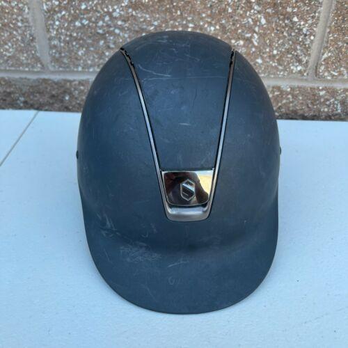 Samshield Equestrian Shadowmatte Helmet Size 6 7/8 S 55S Black Extra Liner