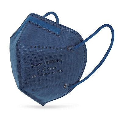 25x Hochwertige FFP2 Maske Mundschutz 5-lagig blau ✅ mit Ohren-Entlastungsclips