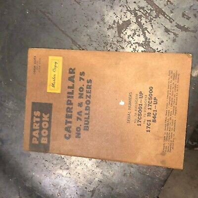 Caterpillar Cat D7 7a 7s Bulldozer Blade Parts Manual Book Sn Used Nice