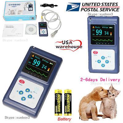 Handheld Veterinary Pulse Oximeter With Tongue Spo2 Probepc Softwarenew