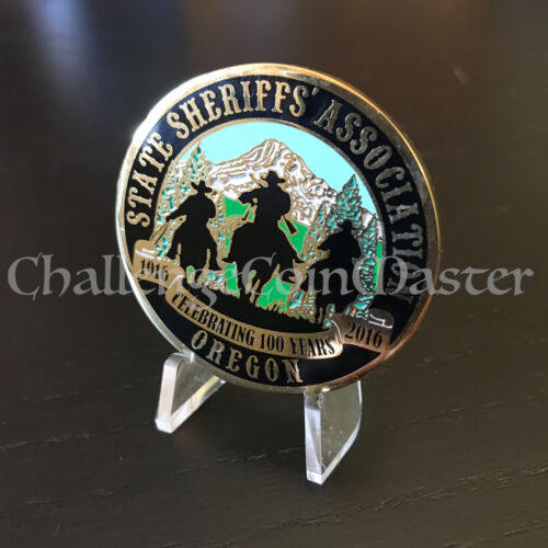 Oregon State Sheriff Department Association Police Challenge Coin