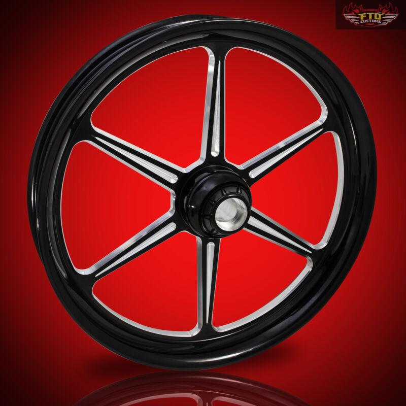 "Harley Davidson Street Glide 30"" Inch Custom Front Wheel ""malice"" Ftd Customs"