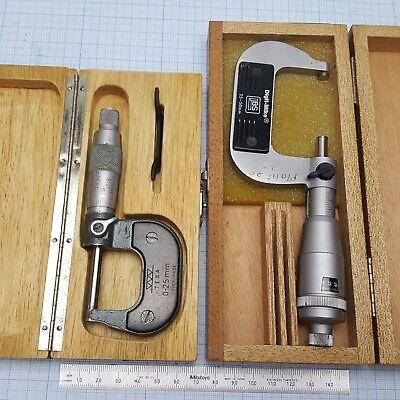 Tesa 0-25mm Regular 25-50mm Digit Counter Micromter Set Swiss Made