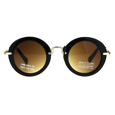 Girls Sunglasses Round Designer Frame Trendy Kid's Fashion UV 400