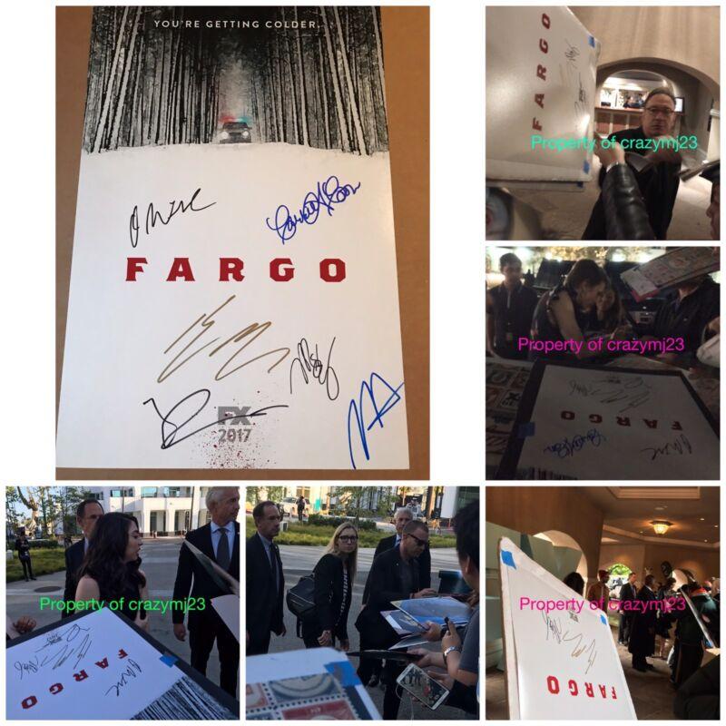 6 Cast Signed Fargo Season 3 Carrie Coon Ewan McGregor David Thewlis Autograph